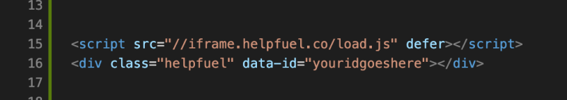 Helpfuel Code Example